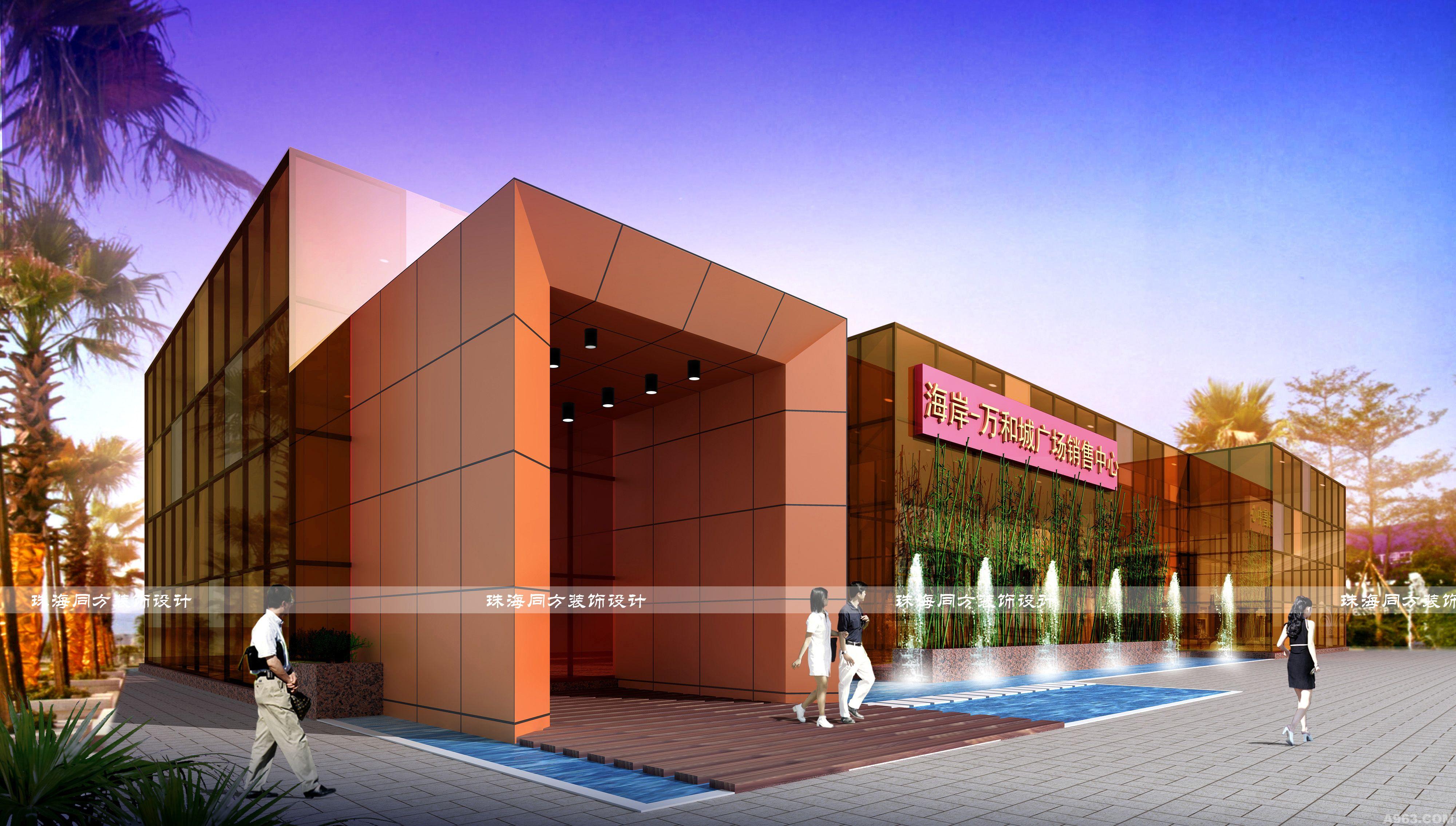 我们选用了现代简约欧式的设计方案来做,前半部份总要是售楼部功能,后