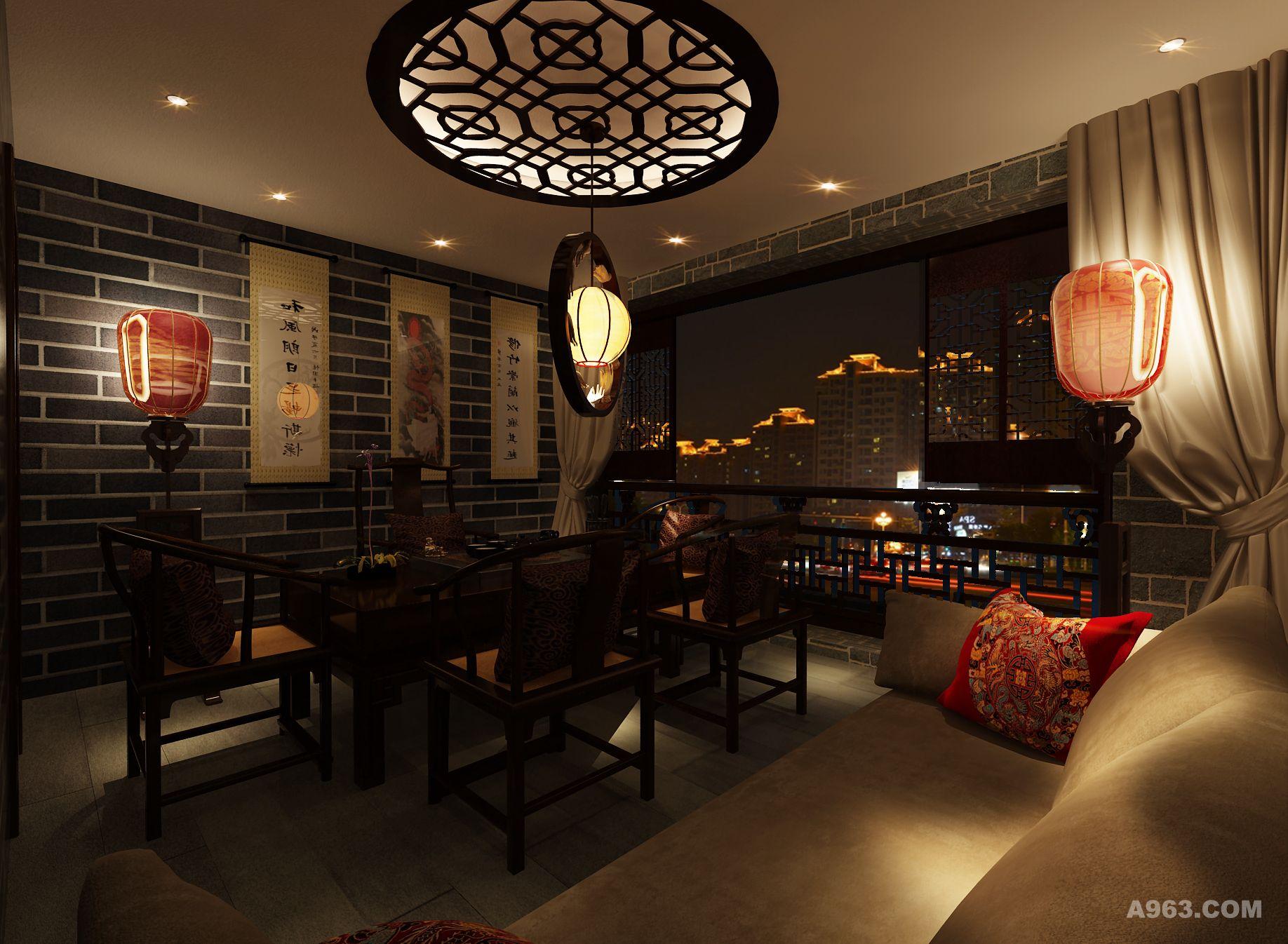 设计说明:此方案为一套中式茶楼设计,设计风格主要以中式名族风格为
